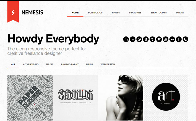 Nemesis Clean Design For Creative Designer